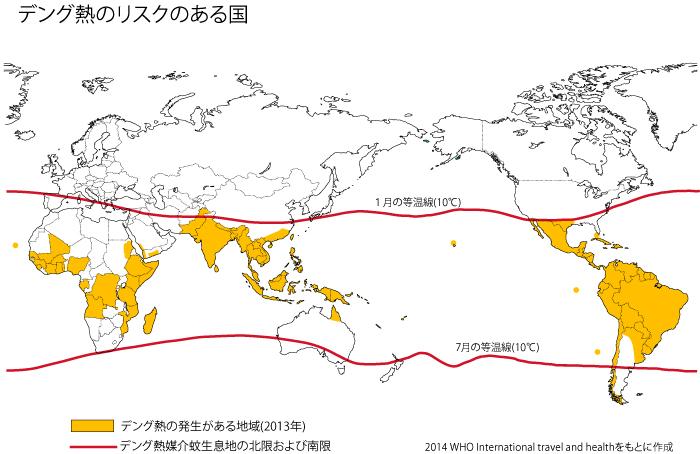 デング熱リスクのある国